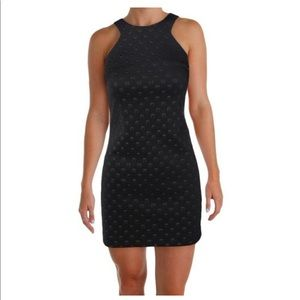 Black Womens 4 Geometric-Printed Sheath Dress
